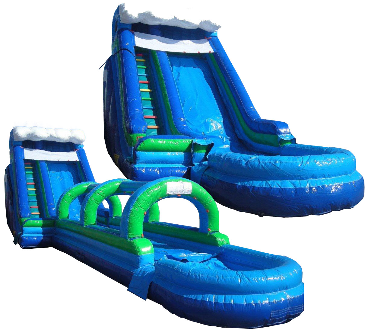 Houston 18 Foot Wave Waterslide with Slip N Slide